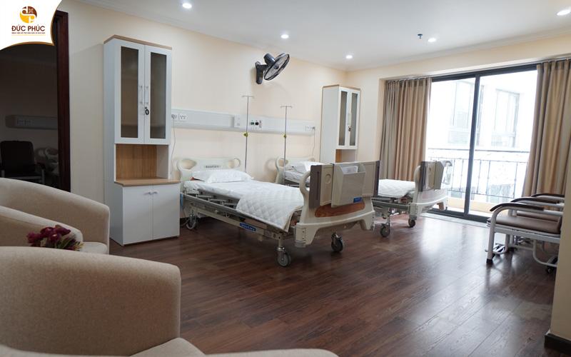 Phòng nội trú đạt chuẩn chất lượng Bệnh viện 5 sao tại Đức Phúc